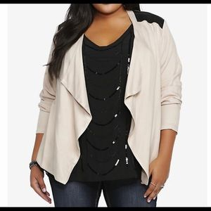 Torrid drape front jacket